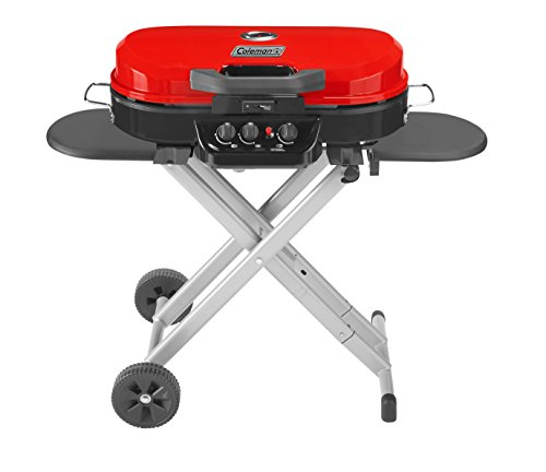 (Coleman RoadTrip 285 Portable Stand-Up Propane Grill, Red)