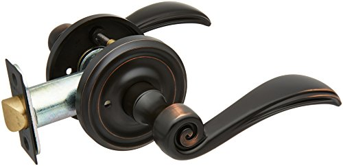 (Classic Rosette Set With Elan Levers Right Hand Privacy In Oil Rubbed Bronze. Doorsets.)