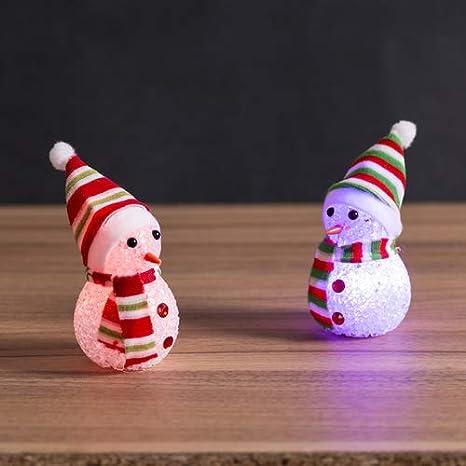 Lote de 20 Figuras con Luz LED Navidad Muñeco de Nieve con LUZ - Regalos de Navidad, Decoración, Regalos de Empresa: Amazon.es: Hogar