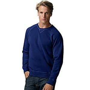 Hanes Mens Nano Premium Lightweight Crewneck Sweatshirt,Medium,Navy