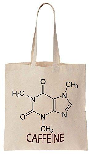 The Chemistry Of Caffeine Sacchetto di cotone tela di canapa