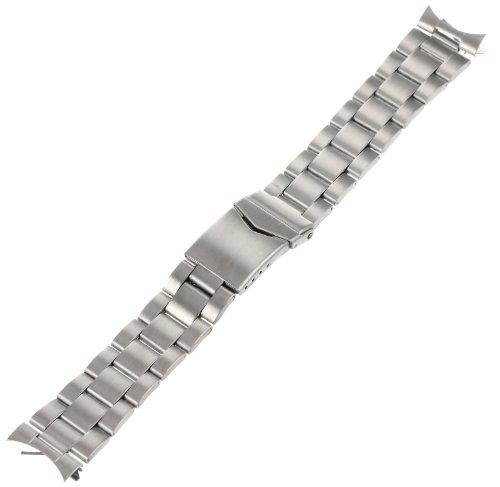 - Hadley-Roma Men's MB5916RWSandC-20 20-mm Stainless Steel Watch Bracelet