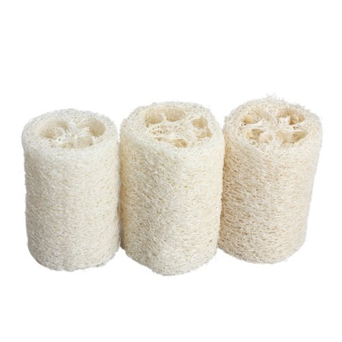 Tenflyer Pack of 3 Natural Loofah Luffa Loofa Bath Body Shower Sponge Scrubber (Small)