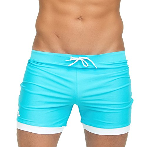 (Taddlee Men Swimwear Solid Basic Long Swim Boxer Trunks Board Shorts Swimsuits (XXL))