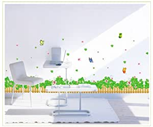 Onehouse clover vallas y mariposas adhesivo de pared sal n for Amazon decoracion salon