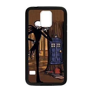Jack Skellington Doctor Who TARDIS Case Pattern Hard Case Cover for Samsung Galaxy S5 I9600