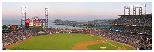 AT&T Park - Baseball Field - 44x15 Matte Poster Print Wall (Baseball Poster Print)