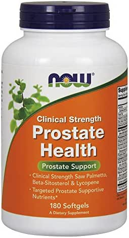 NOW Supplements, Prostate Health, Clinical Strength Saw Palmetto, Beta-Sitosterol & Lycopene, 180 Softgels