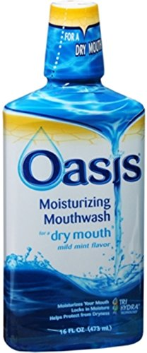 Oasis Moisturizing Mouthwash Mild Mint 16 oz (Pack of 10) by Oasis