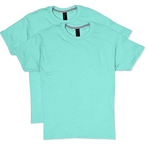Hanes Men's 2 Pack X-Temp Performance T-Shirt, Clean Mint Medium