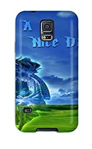 Durable Defender Case For Galaxy S5 Tpu Cover(nice Day )