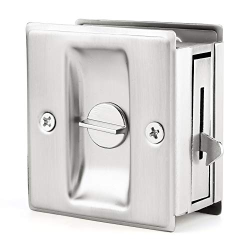 Privacy Sliding Door Lock with Pull - Replace Old Or Damaged Pocket Door Locks Quickly and Easily, 2-3/4
