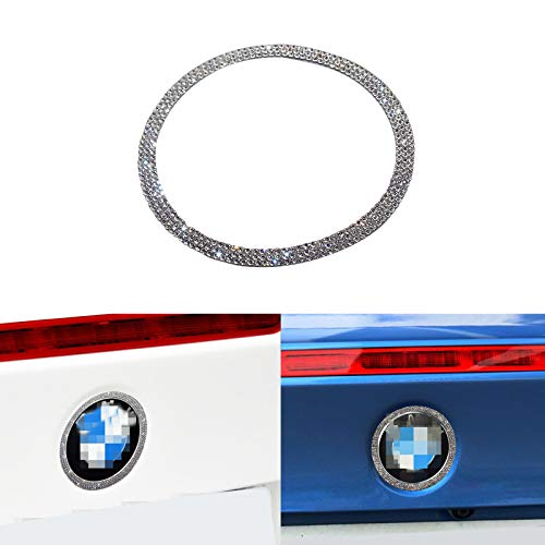 (YaaGoo Out Side Emblem Decal Sticker Bling Crystal for BMW 2 3 4series 5GT,Rear)