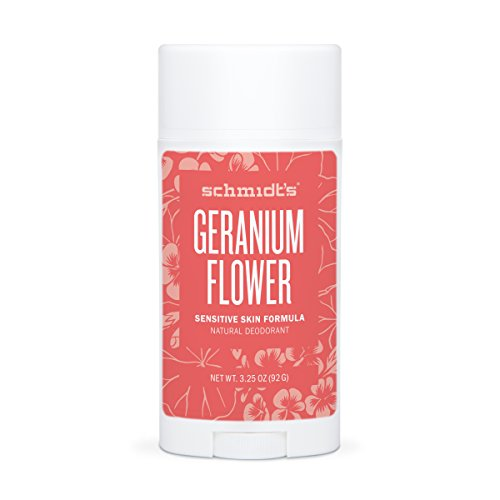 Price comparison product image Geranium Flower Sensitive Skin Deodorant Stick Odor Protection and Wetness Relief  Aluminum-Free (3.25 ounces)