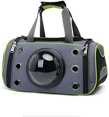 AXRXMA 新しいファッションペットの犬ペットの猫のペットバッグ通気性の摩耗猫の携帯用折りたたみペットスペースバッグ (Color : Green, Size : 44CM*26CM*26CM)
