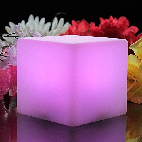 Wlnnes 9.84inch Party Mood Lampe réglable 16RGB couleur 4 Luminosité luminescentes Tabourets Led Cube Tabouret Night Light for Party Pool Party Chambre 25cm * 25cm * 25cm