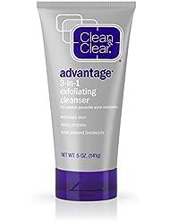 Clean & Clear Advantage 3-In-1 Exfoliating Facial Cleanser, 5 Oz.