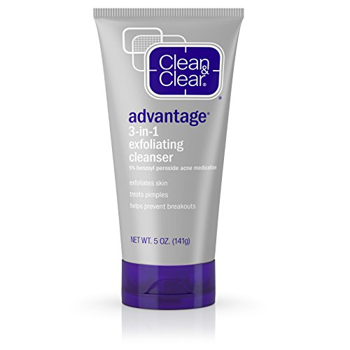 Clean & Clear Advantage 3-In-1 Exfoliating Facial Cleanser, 5 Oz.