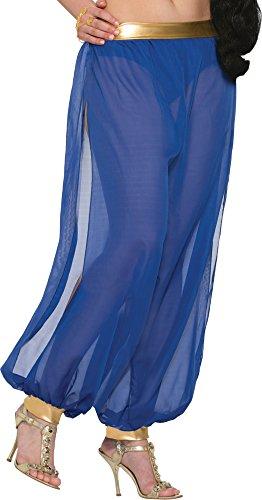 Forum Novelties Belly Dancer Harem Pants Adult Costume (Blue)-Standard -