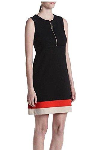Robe De Bande Avant Zip Femmes Calvin Klein, Noir, Taille 10