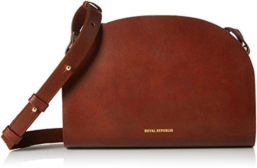 Royal RepubliQ Galax Curve Hand Bag, Borse a spalla Donna Marrone (Cognac)