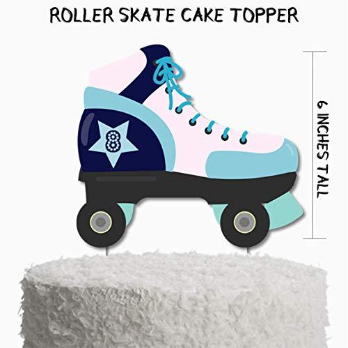 Roller Skate Birthday Party Cake Topper, Roller Skating Birthday Party Supplies, Skating Party Decorations, Skating Party Cake -