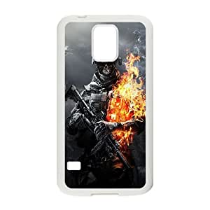Samsung Galaxy S5 Cell Phone Case White_Battlefield 3 Skulls Fire Futmt