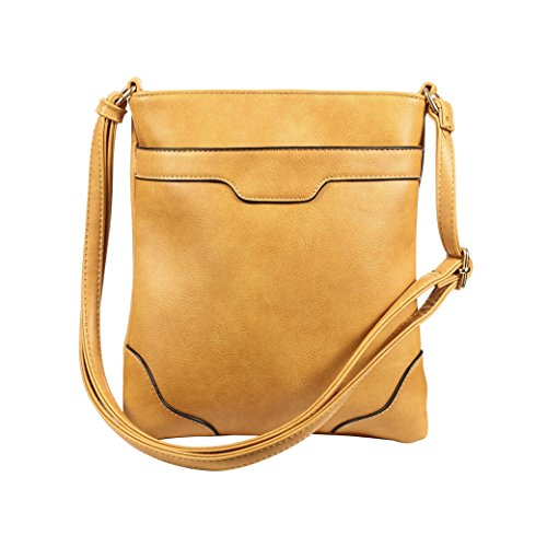 Pocket Cross Purses Women XY Bags for Brown Vegan Fancy Crossbody Shoulder Handbags Multi WYY4vwqHx