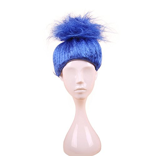 United States of Oh My Gosh Troll Wig - Choose Your Color - Messy Troll Hair - Quality Costume For Party (Blue)
