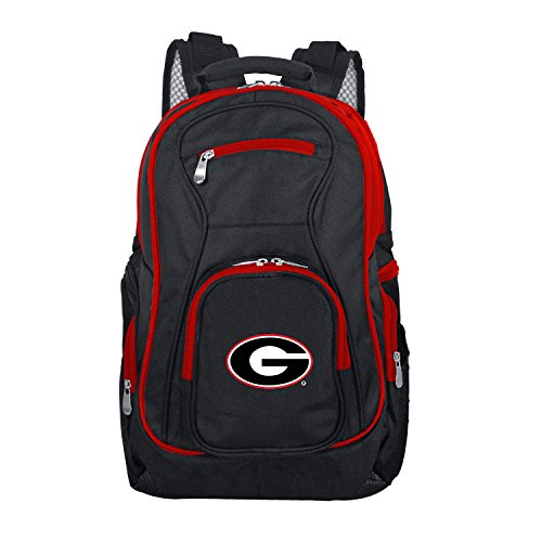 NCAA Georgia Bulldogs Colored Trim Premium Laptop Backpack