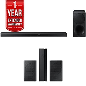 Samsung 340W 3.1ch Soundbar w/ Wireless Subwoofer (HW-M550/ZA) + Rear Speaker Bundle Includes, Samsung (SWA-8500S/ZA) Wireless Rear Speakers Kit & 1 Year Extended Warranty