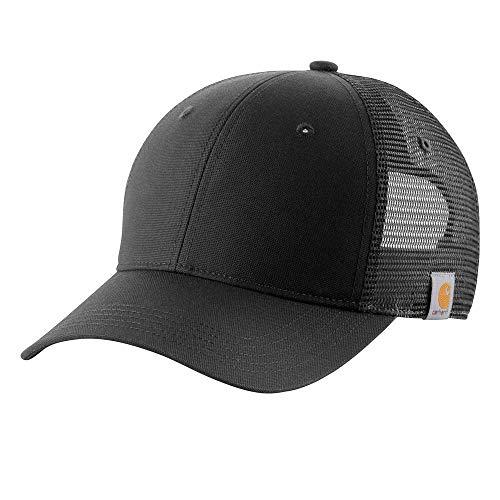 Back Logo Cap Hat - Carhartt Men's Rugged Professional Cap, Black,
