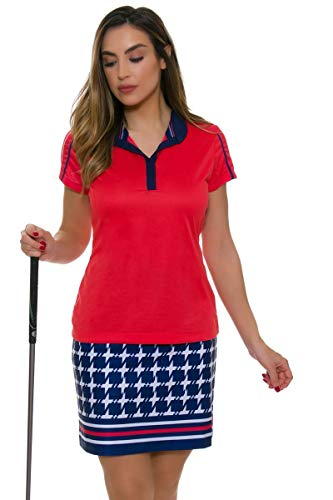 EP Pro NY Women's Graphic Jam Houndstooth Border Print Golf Skort 18 ()