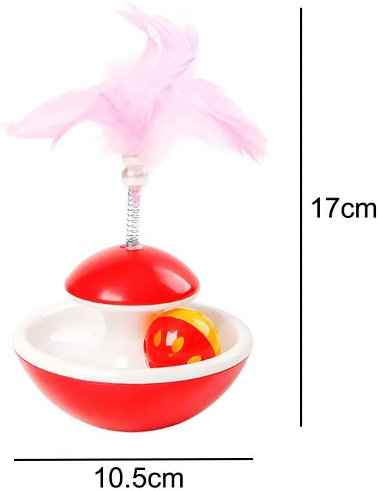 N\A Tumbler Interactive Cat Toys with Colour Feather and Ring Bell