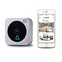 Vuebell,WiFi Video Doorbell ,Works with Alexa Echoshow With Bonus Indoor Wireless Chime, Cloud Storage,Night Version IR Motion Detection Alarm for IOS / Android