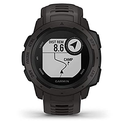 Garmin Instinct, Rugged Outdoor Watch with GPS, Features GLONASS and Galileo, Heart Rate Monitoring and 3-Axis Compass…