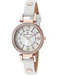 Christian Van Sant Womens CV8131 Petite Analog Display Swiss Quartz White Watch