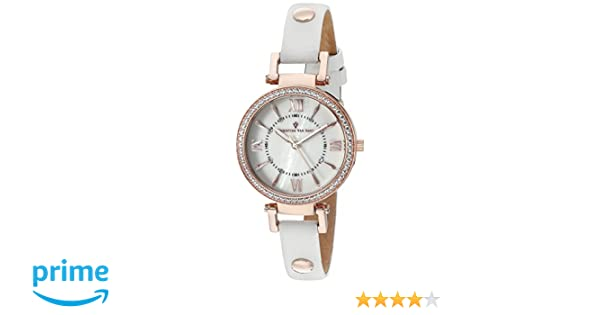 Amazon.com: Christian Van Sant Womens CV8131 Petite Analog Display Swiss Quartz White Watch: Christian Van Sant: Watches