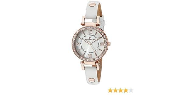 Amazon.com: Christian Van Sant Womens CV8131 Petite Analog Display Swiss Quartz White Watch: Watches
