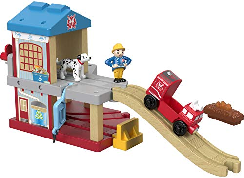 Fisher-Price Thomas & Friends Wood, Eco Rescue Firehouse Set