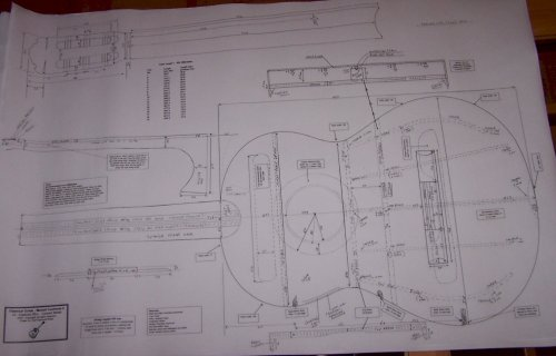 Price comparison product image Classical Guitar Plans - Hermann Hauser I - Full Scale Design Drawings - Technical Plans