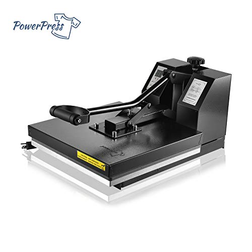 PowerPress HPM-1515-BK Industrial-Quality Digital Sublimation T-Shirt Heat Press Machine, 15