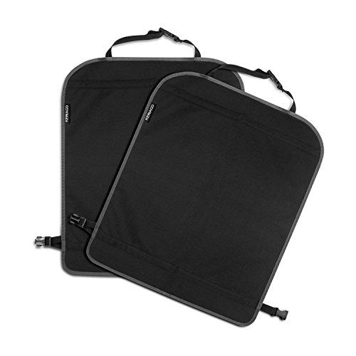 Rückenlehnenschutz und Kinder Rücksitzschoner von Kewago | Doppelpack: 2x Autositz Schutzmatte schmutzabweisend | 58 x 45cm groß, passend für die meisten Sitze | Schwarz