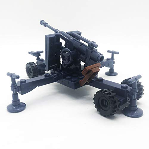 koolfigure Custom WW2 Military Building Blocks Set Mini Bricks Toys The German Willys Jeep Model B - Blue Artillery