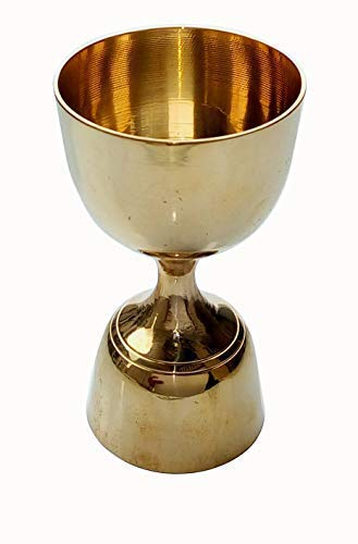 STREET CRAFT Made of Brass, 2-Tone Peg Measure Cup, Brass with Golden Finish Peg Measure Cup, 30 ml / 60 ml, Smooth Brass Golden Finish Pack of 1 Pcs Price & Reviews