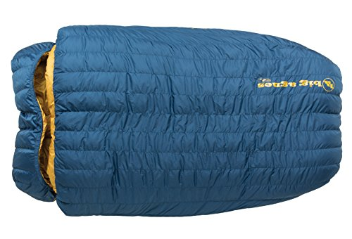 Big Agnes King Solomon 15 Degree Sleeping Bag, Blue, Double Wide - Right Zip