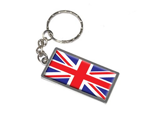 Graphics and More Britain British Flag Keychain Ring (K0007)