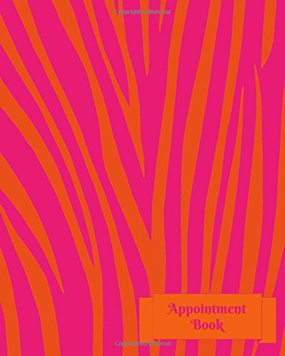 Appointment Book: At A Glance 6 Column Client Schedule Diary Journal Planner Notebook For Business Use (Animal Skin Print Cover Design)