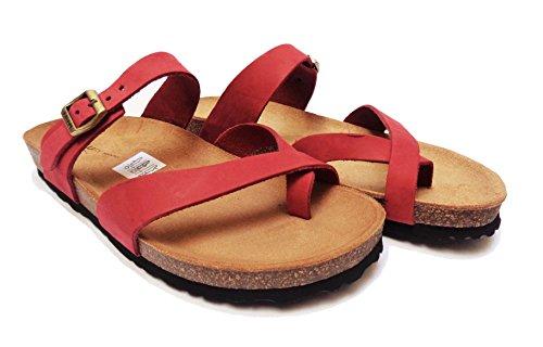 FRAU , Sandales pour femme rouge cerise 37