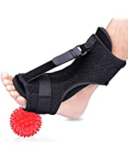 Support for Plantar Fasciitis,Upgraded Plantar Fasciitis Night Splint Plantar Fasciitis Brace Adjustable Brace with A Massage Ball Arch Foot Pain Support(Black)